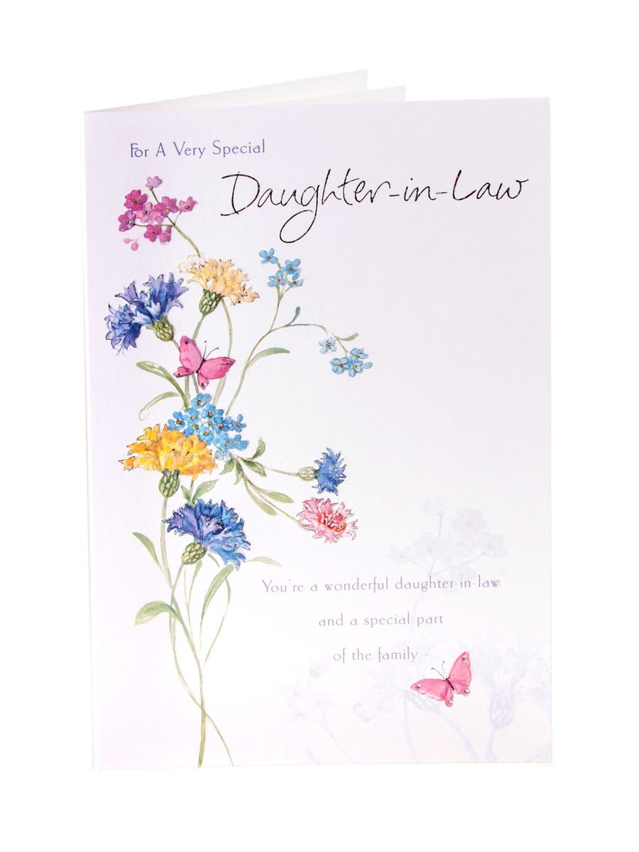 Kathryn White Daughter In Law Birthday Card