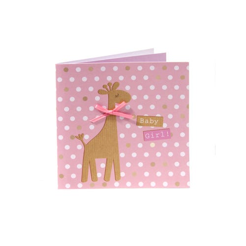 A La Mode New Baby Girl Card