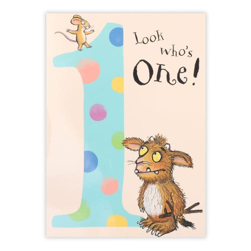 Gruffalo 1st Birthday Card