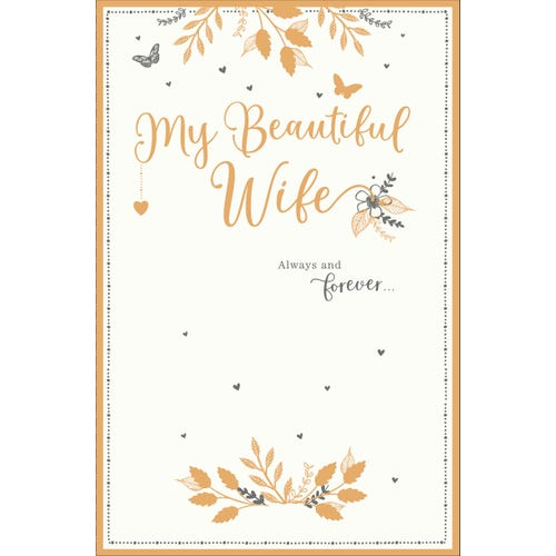 Wife Wedding Anniversary Always & Forever Card