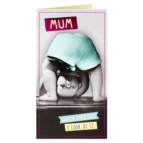 Upside Down Mum Birthday Card