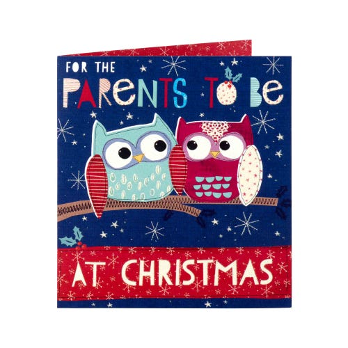 Parents To Be Owls Christmas Card