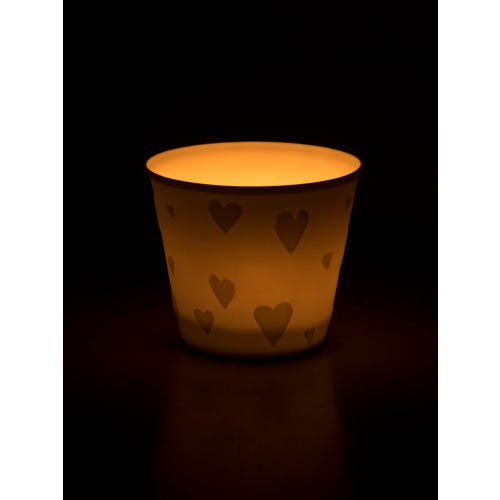 Nordic Lights Tea Light Holder - Heart