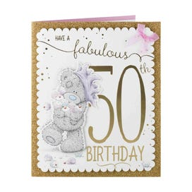 Me to You Bear Cupcakes 50th Birthday Card