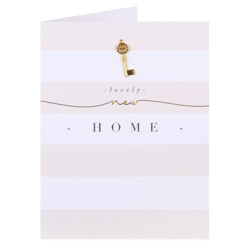 Warm Stripes Lovely New Home Card