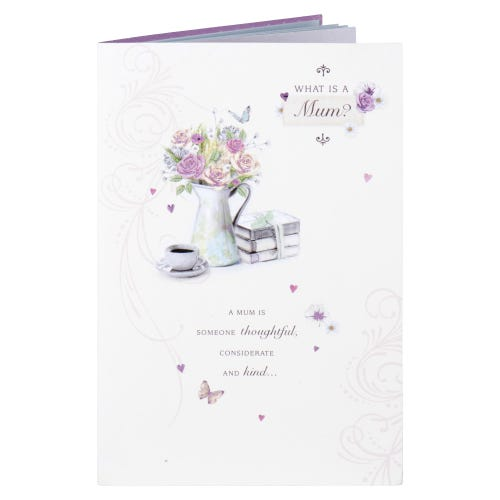 What Is A Mum? Sentiment Birthday Card