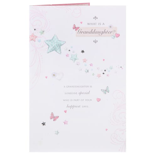 Stars And Butterflies What is a Granddaughter Card