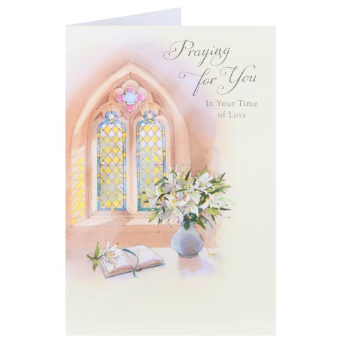 Stained Glass Window Sympathy Card
