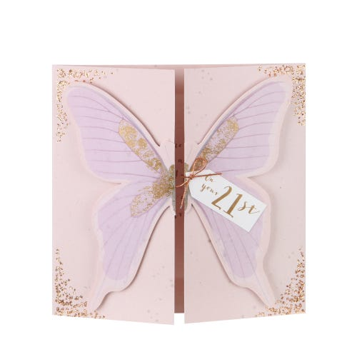 21st Butterfly Birthday Card