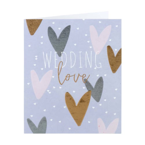 Foil Hearts Wedding Love Card