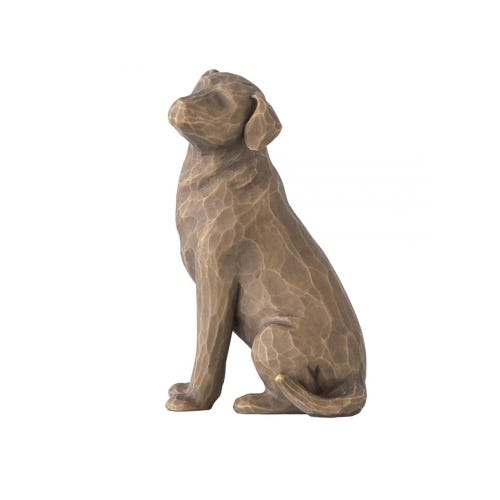 Love My Dog Dark Coloured Figurine