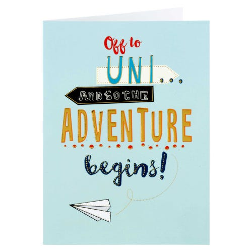 Off To Uni Adventure Begins Card