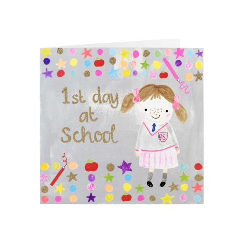 Multi Dot 1st Day At School Card