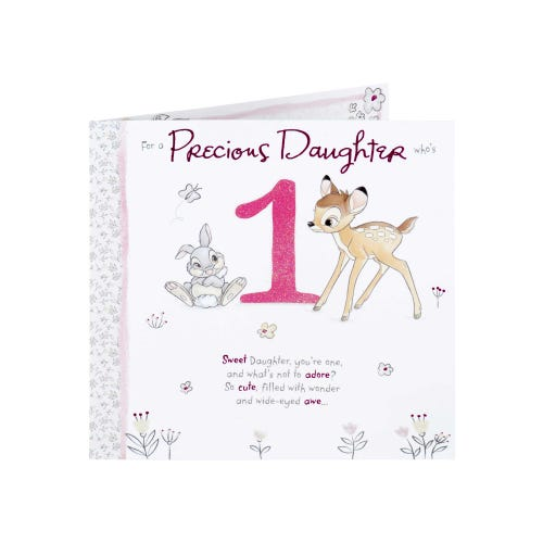 Disney Bambi Daughter 1st Birthday Card