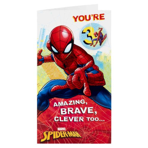 Spiderman 3rd Birthday Card