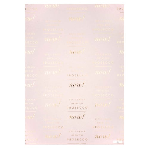 Prosecco Double Sided Single Sheet Wrapping Paper