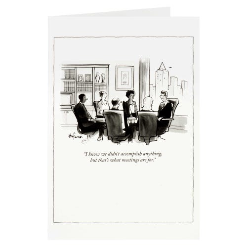The New Yorker Blank Card