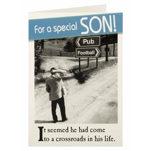 Special Son Crossroads Humour Birthday Card