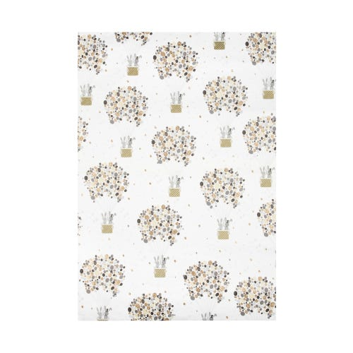 Bunny Bride And Groom Hot Air Balloon Single Sheet Wrapping Paper