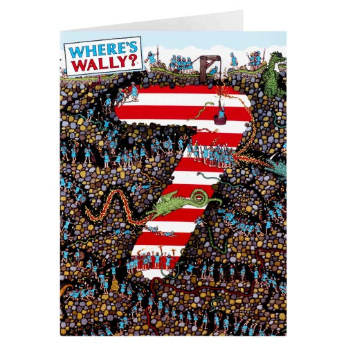 Where's Wally 7th Birthday Card