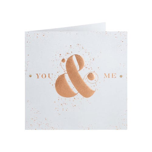 You & Me Embossed Anniversary Card