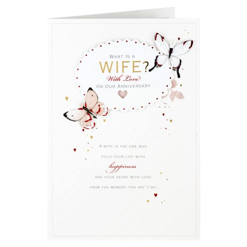 What is a Wife? Anniversary Card