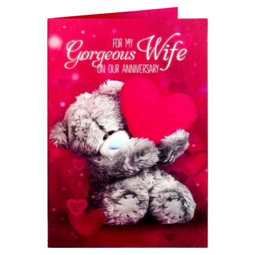 Me to You Wife Lenticular Anniversary Card