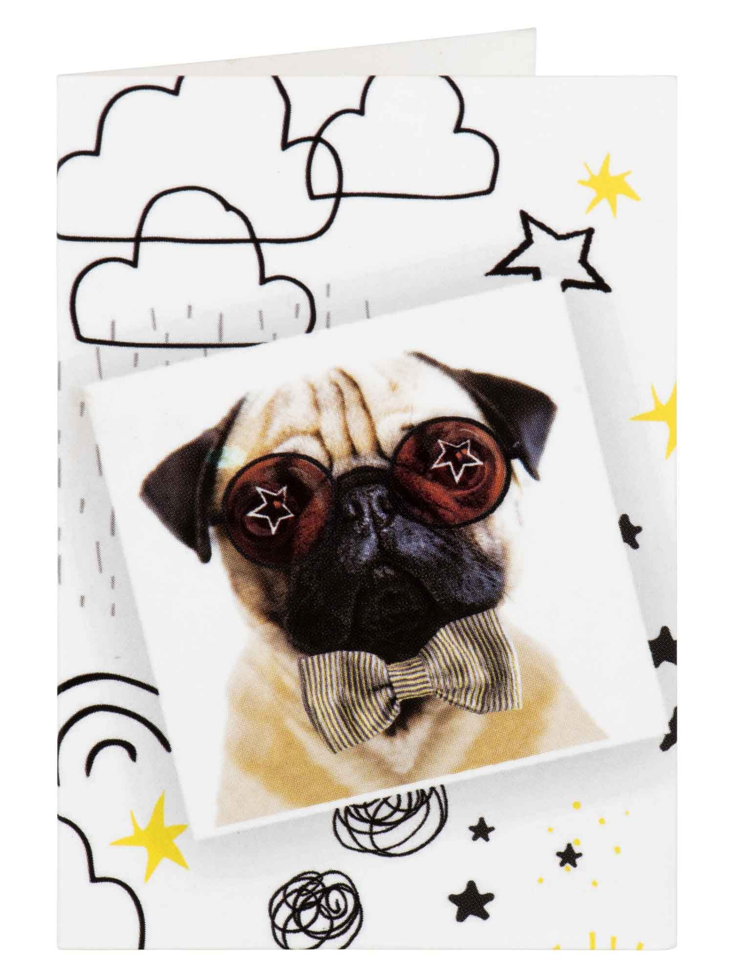Pug In Sunglasses Gift Tag
