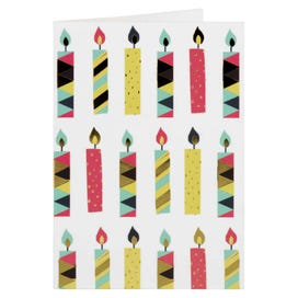 Bright Geo Candles Happy Birthday Gift Tag