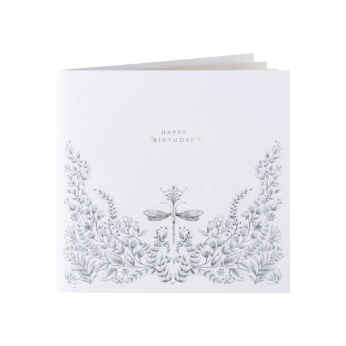 Clintons Collections Dragonfly And Pattern Birthday Card