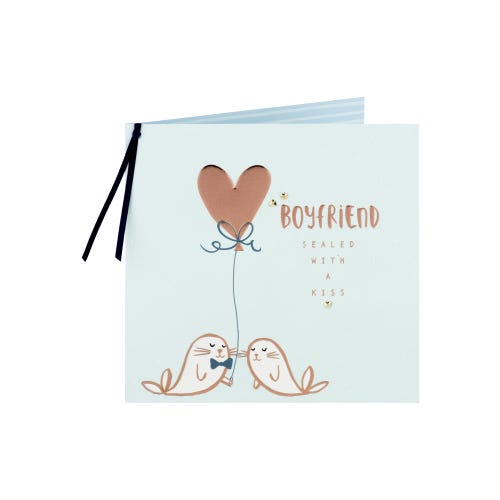 Sealed With A Kiss Boyfriend Birthday Card