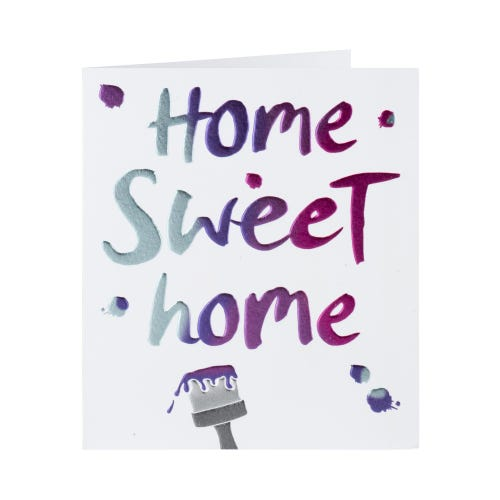 Home Sweet Home Paint Brush Card