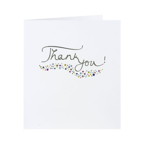 Stars Thank You Card