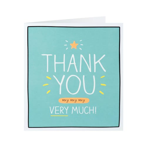 Thank You Very Much Card