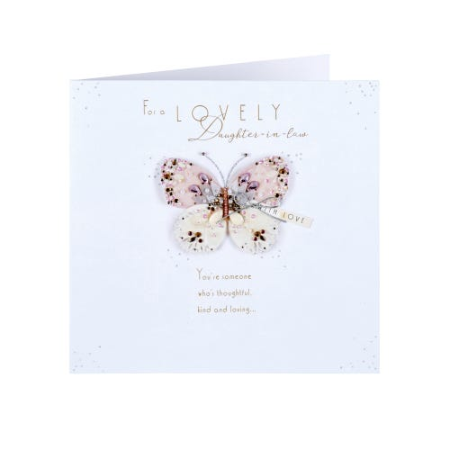 Handmade Butterfly Daughter In Law Birthday Card