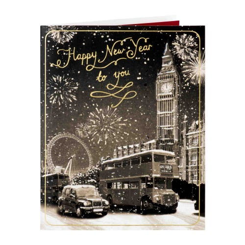 London Town New Year Card