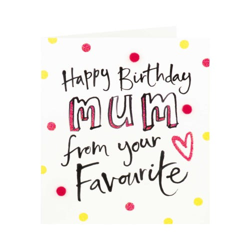 Mum From Your Favourite Birthday Card