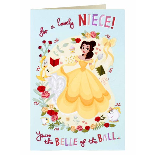 Disney Princess Belle Of The Ball Niece Birthday Card