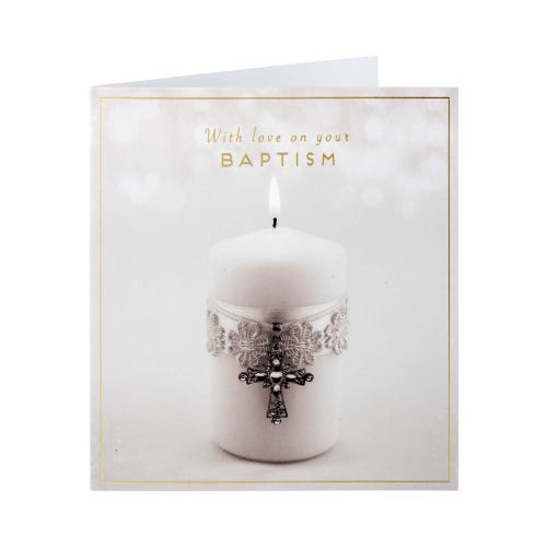 Baptism Candle Card