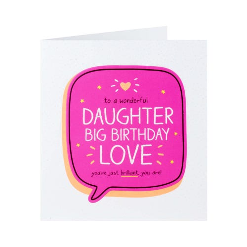 Glittery Big Birthday Love Daughter Card