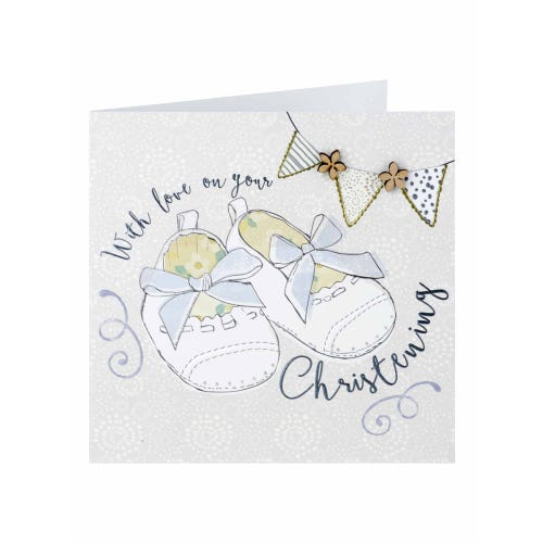 Baby Shoes On Your Christening Card