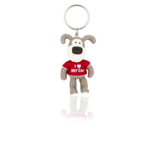 Boofle I Heart My Car Keyring