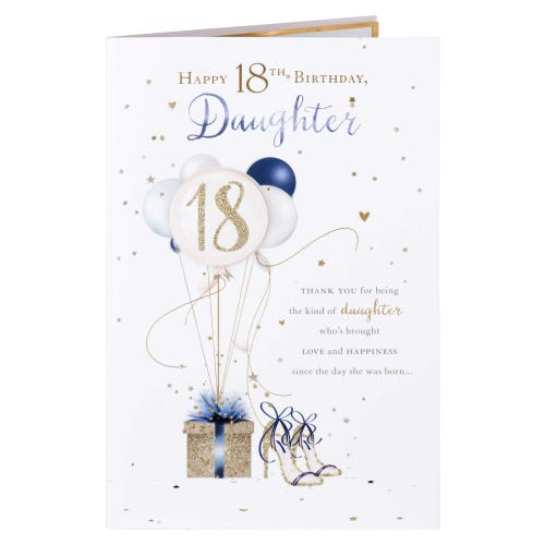 Glitz & Glam Daughter 18th Birthday Card
