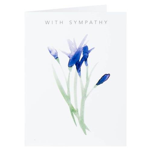 Purple Tulips With Sympathy Card