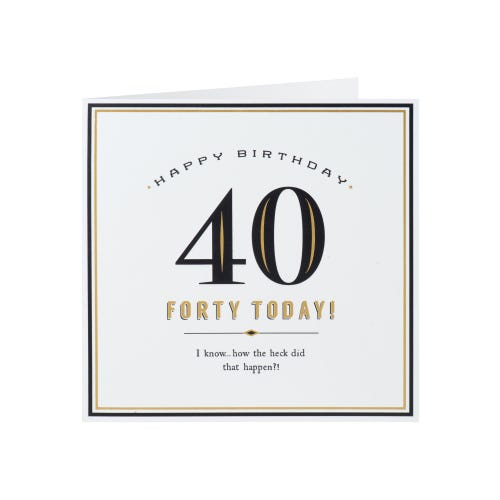 Forty Today! Happy Birthday Card