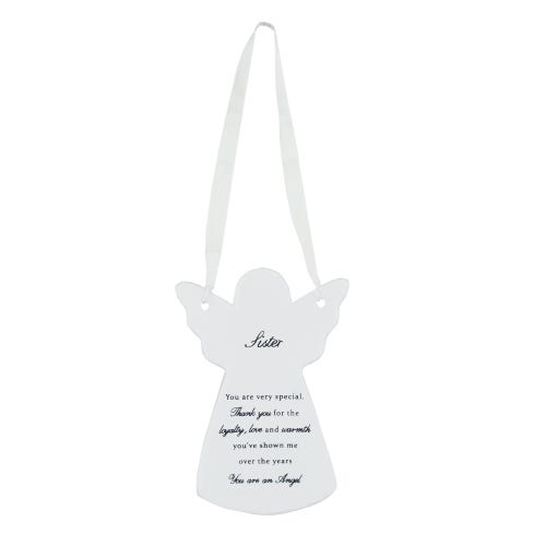 Guardian Angel Ceramic Hanging Plaque - Sister