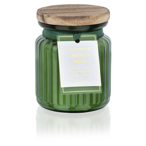 Tropical Palms Small Illuminate Candle