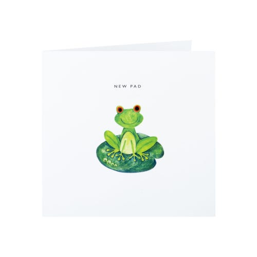 Frog On A Lilypad New Home Card