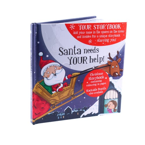 Xmas StoryBook - BLANK Female Santa
