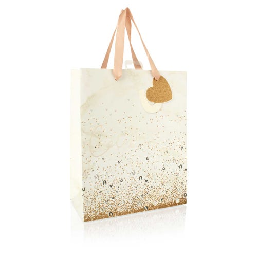 Celebrate! Horseshoe And Glitter Effect Large Wedding Gift Bag